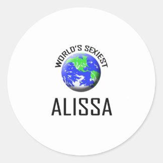 Alissa le plus sexy du monde sticker rond