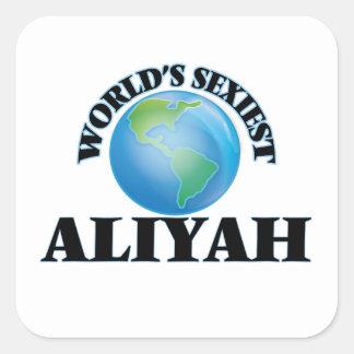Aliyah le plus sexy du monde autocollants carrés