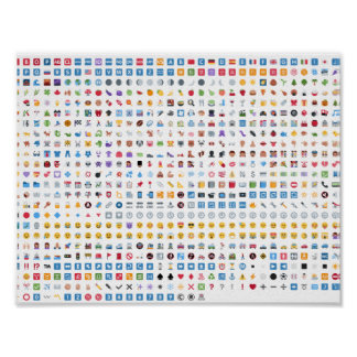 All the emojis from Twitter on this poster