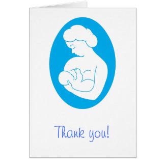 Allaiter le carte de remerciements