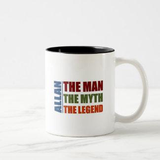 Allan le mna, le mythe, la légende mug bicolore