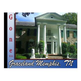 Allé à Graceland Memphis, carte postale de TN