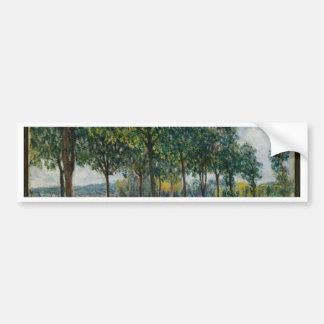 Allée des arbres de châtaigne - Alfred Sisley Autocollant Pour Voiture