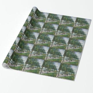 Allée des arbres de châtaigne - Alfred Sisley Papiers Cadeaux Noël
