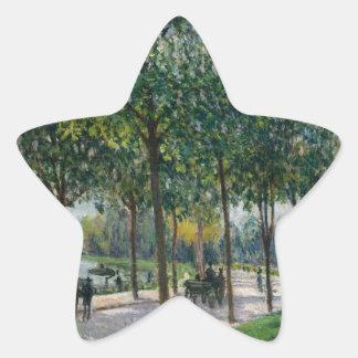 Allée des arbres de châtaigne - Alfred Sisley Sticker Étoile