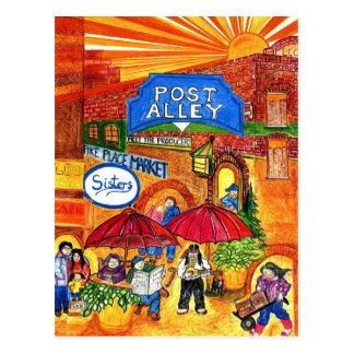 Allée de courrier carte postale