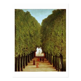 Allée en parc de Saint-Nuage, 1908 (huile dessus Cartes Postales