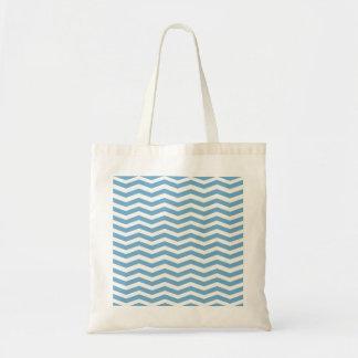 Allégé Blue Chevron Stripes Bag Sacs