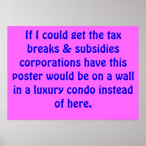 Allégements fiscaux, subventions et logements de l affiche