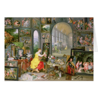 Allégorie de la peinture 2 carte de vœux