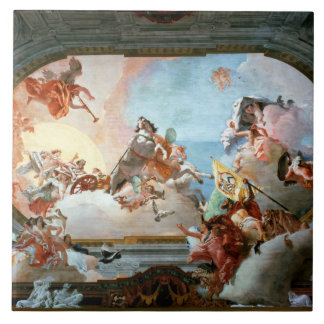 Allégorie de mariage de Rezzonico à Savorgnan Grand Carreau Carré