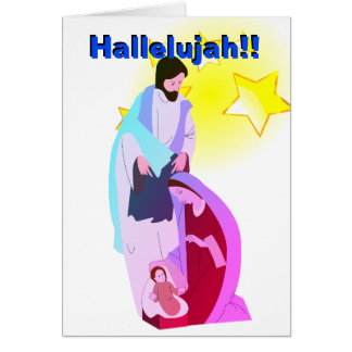 Alléluia ! ! Notre sauveur est carte de voeux née