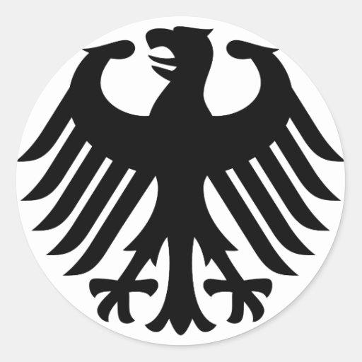 Allemand Eagle Autocollants Ronds