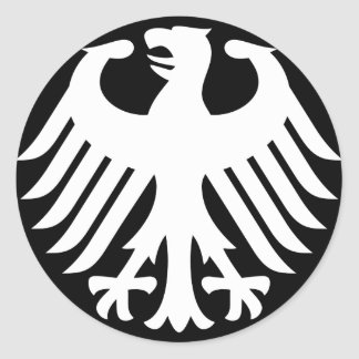 Allemand Eagle Sticker Rond