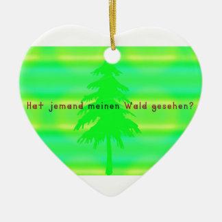 Allemand - forêt ornement cœur en céramique