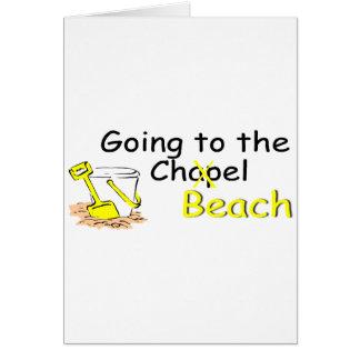 Aller à la plage de chapelle carte de vœux