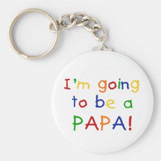 Aller être un papa - couleurs primaires porte-clefs
