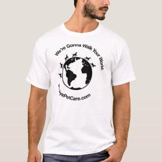 Aller marcher votre monde t-shirt