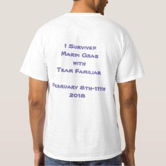 ALLER-VONT le T-shirt des hommes de mardi gras