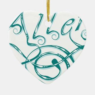 Allergie décorative de mot ornement cœur en céramique