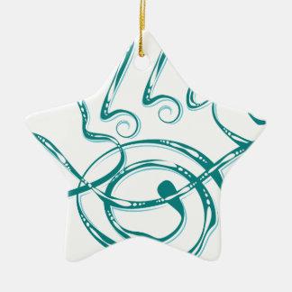 Allergie décorative de mot ornement étoile en céramique
