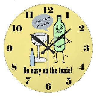 Allez facile sur le tonique grande horloge ronde