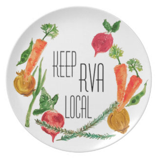 Allez Local-RVA Assiettes En Mélamine