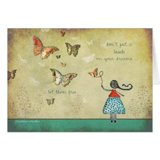 Allez pour lui, suivez vos rêves carte de vœux