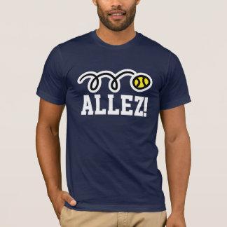 Allez ! T-shirt de tennis avec l'énonciation