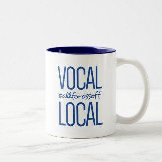 #AllForOssoff vocal et local - BLEU Tasse 2 Couleurs