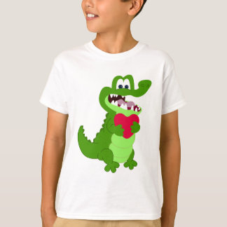 Alligator dans l'amour t-shirt