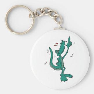 Alligator de danse porte-clef