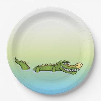 Alligator de joyeux anniversaire assiettes en papier
