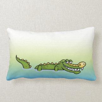 Alligator heureux coussin rectangle
