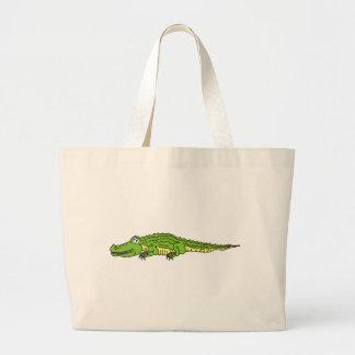 Alligator, le Cocodrile silencieux Sac De Toile