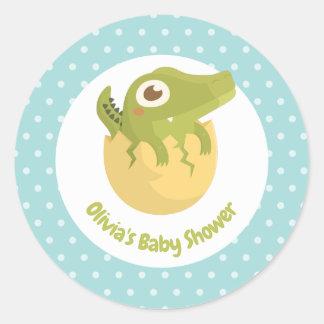 Alligator mignon dans des autocollants de baby
