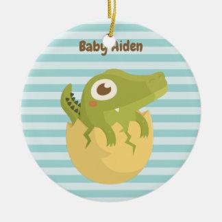 Alligator mignon de bébé en ornement personnalisé