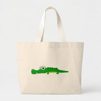 Alligator mignon sac en toile jumbo