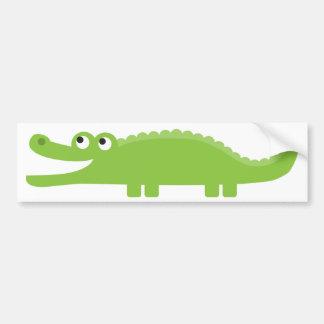 Alligator vert autocollant de voiture
