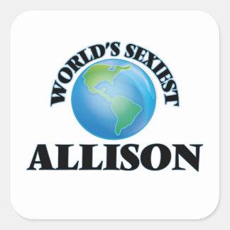 Allison le plus sexy du monde autocollants carrés