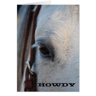 Allo carte de voeux de cheval