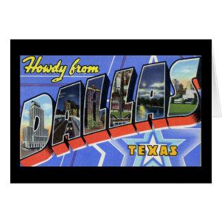 Allo de Dallas le Texas Carte De Vœux