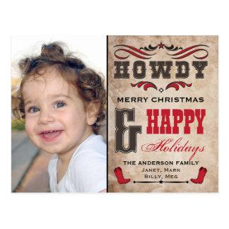 Allo Noël occidental Phostcard de cowboy Carte Postale