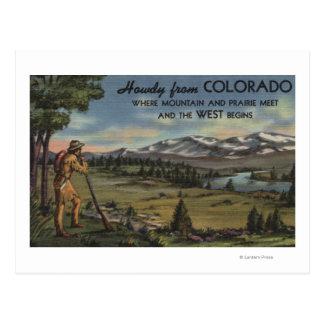 Allo (scène de montagne et de prairie) carte postale