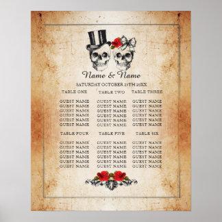 Allocation des places d'affiche de mariage de plan poster