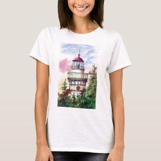 Allumez le T-shirt de dames de phare de manière