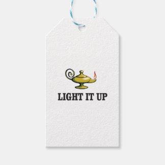 allumez-le vers le haut de la lampe étiquettes-cadeau