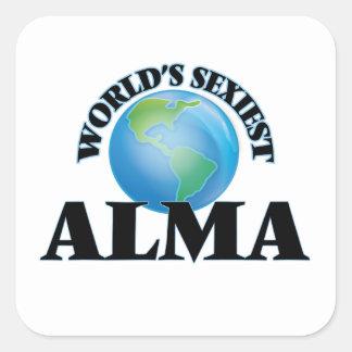 Alma la plus sexy du monde sticker carré