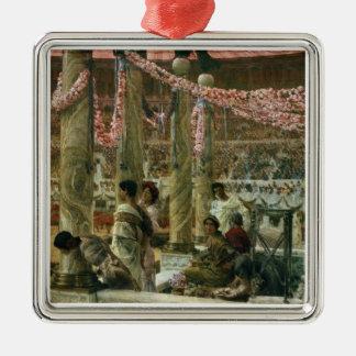 Alma-Tadema | Caracalla et Geta, 1907 Ornement Carré Argenté