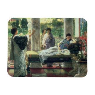 Alma-Tadema | Catullus lisant ses poèmes Magnet Flexible